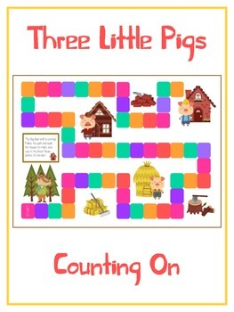 Three Little Pigs Math Folder Game - Common Core - Countin