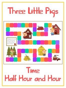 Three Little Pigs Math Folder Game - Common Core - Telling
