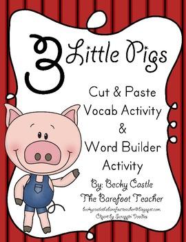 Three Little Pigs Vocabulary Building Activities (2 Activities)