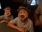 Art - Three Little Pigs and Wolf Paper Plate Masks Project