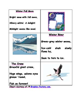 Three Original Haiku Poems to go with the 4 Easy Steps for