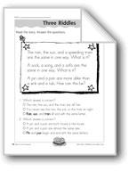 Three Riddles (Initial/Final Consonants)