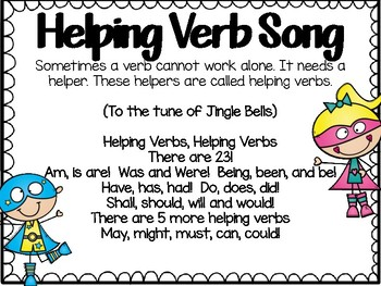 Three Sets of Types of Verbs Task Cards & Cooperative Lear
