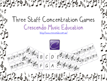 Three Staff Concentration Games