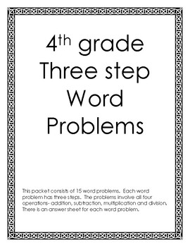 Three Step Word Problems