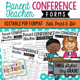 Three Styles of Editable PDF Parent Conference Forms for A