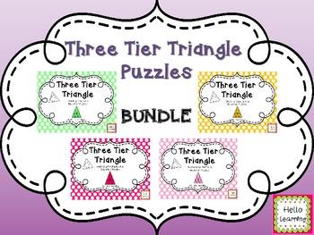 Three Tier Triangle Puzzles- BUNDLE