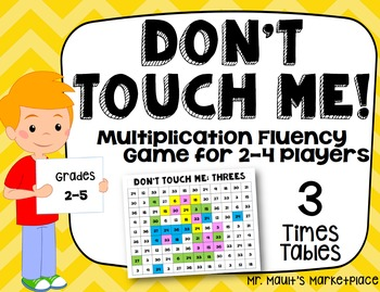 Three Times Tables: Don't Touch Me! Multiplication Fact Fl