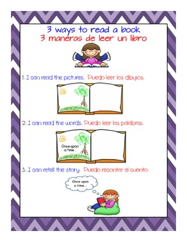 Three Ways to Read a Book, dual language, bilingual