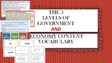Three levels of Government and Economics ~ Grades 3 - 5