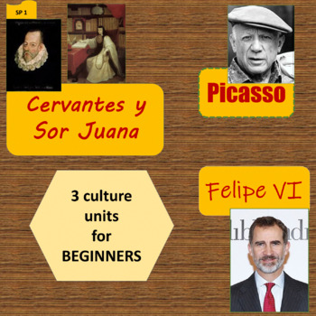 Cervantes and Sor Juana, Picasso, Felipe VI - 3 thematic u