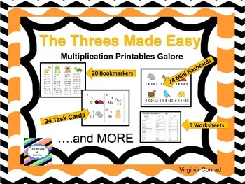 Threes Made Easy---Multiplication Printables Galore