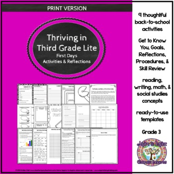 Thriving in Third Grade: First Weeks' Activities and Refle