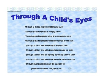 Through A Child's Eyes Poster