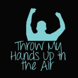 Throw My Hands Up in the Air Font: Personal Use
