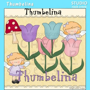 Thumbelina Clip Art  C. Seslar