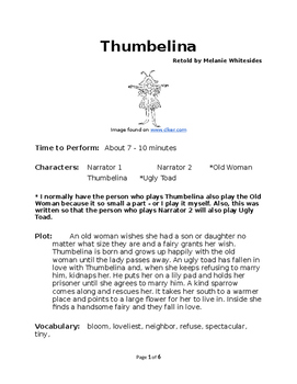 Thumbelina - Small Group Reader's Theater