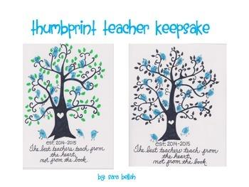 Thumbprint Teacher Keepsake