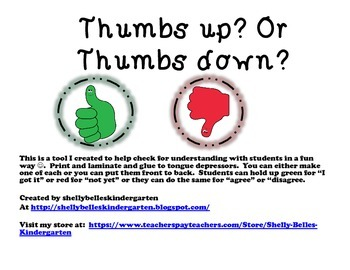 Thumbs Up? or Thumbs Down?