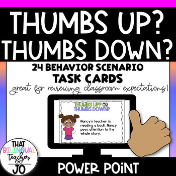 Thumbs up or Thumbs down? Sorting behavior scenarios.