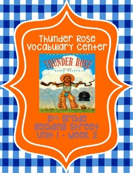 Thunder Rose Vocabulary Center