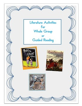 Thundercake, Stone Soup, Ruby the Copycat book activities