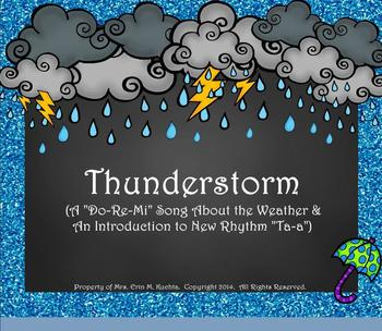 """Thunderstorm! Weather Song for Practicing """"Do-Re-Mi""""/""""Ta-a"""