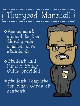 Thurgood Marshall Assessment Packet: Study Guide, Vocabula