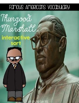 Thurgood Marshall {Interactive Vocabulary Sort}