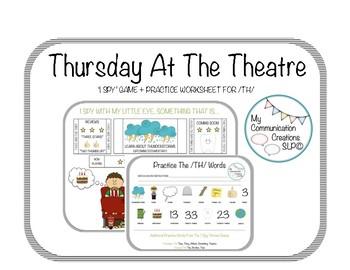 Thursday At The Theatre: I Spy Picture Scene Game for SLPs