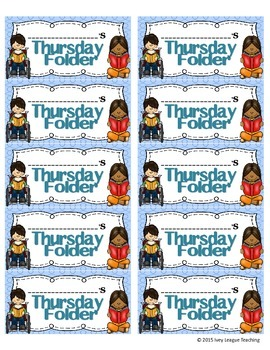 Thursday Folder Labels