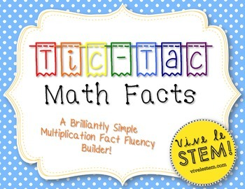 {FREEBIE} Tic-Tac Math Facts: A No-Prep Multiplication Fac