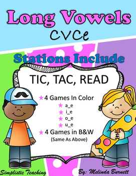 Tic Tac Read CVCe Long Vowel  a, i, o, u Reading Silent E