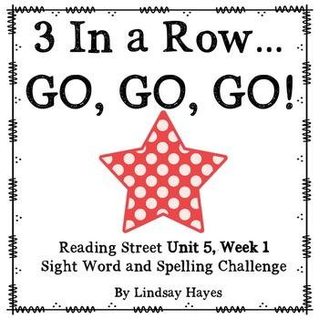 3 In a Row...GO, GO, GO! Reading Street 5.1