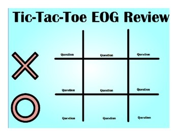 Tic-Tac-Toe Active Inspire Game Math EOG Review