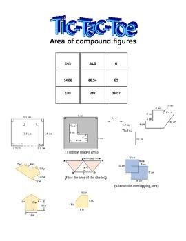 Tic-Tac-Toe Area of Compound/Composite Shapes