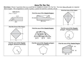 Tic Tac Toe Board - Area - EDITABLE