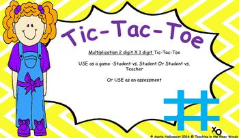 Tic-Tac-Toe Multiplication Problem Solving