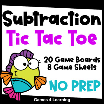 Subtraction Facts Tic Tac Toe Subtraction Games