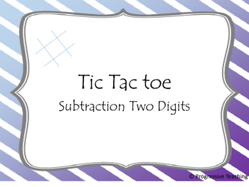 Tic Tac Toe Subtraction Two Digits