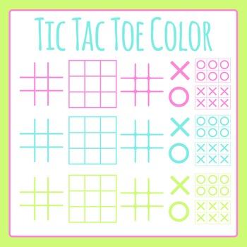 Tic Tac Toe / TicTacToe / Naughts and Crosses Color Templa