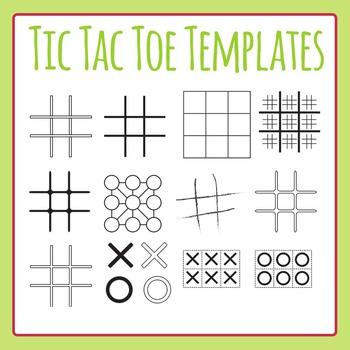 Tic Tac Toe / TicTacToe / Naughts and Crosses Templates /