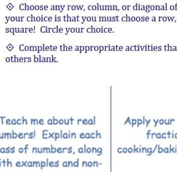 Tic-Tac-Toe, What Do You Know?! Differentiated Assessment
