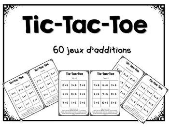 Tic-Tac-Toe des tables d'additions