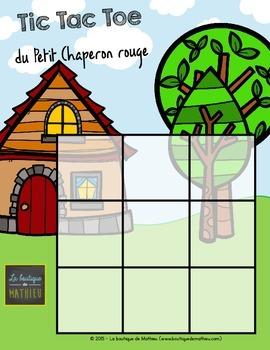 Tic Tac Toe du Petit Chaperon rouge (Morpion) - Little Red