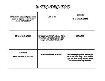 Tic Tac Toe with Percents