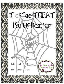 Tic Tac Treat Multiplication Freebie