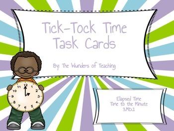 Tick-Tock Time Task Cards