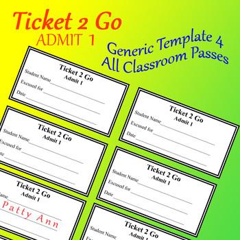 Ticket 2 Go > All Occasion Pass or Reward Cards! > EDITABL