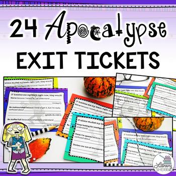 Ticket Out the Door | Exit Ticket | Halloween Exit Tickets